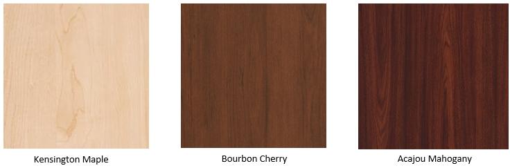 Case Good Colour Chips - Mahogany, Cherry & Maple