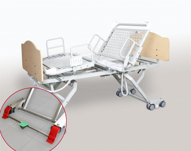 Athena Healthcare Products Inc. Socrates Bed in Full-Height Position, Fully Contoured
