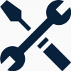 Easy Maintenance Icon - Wrench and Screwdriver